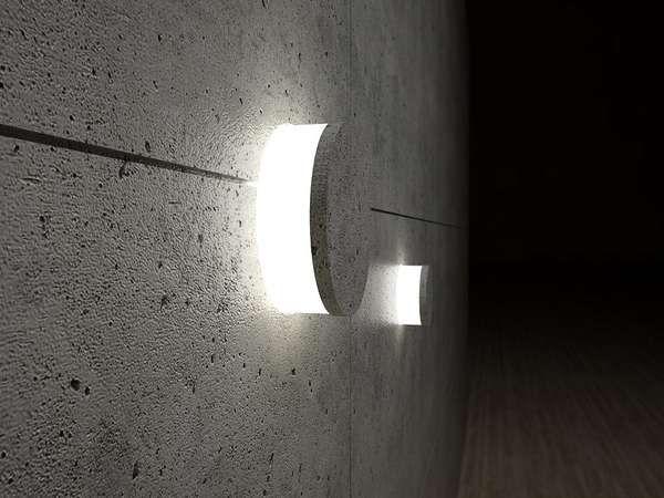 Concrete lamps boite de pellicule 16mm