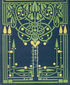 Art Nouveau Glasgow School book design (An original highly-stylized Art Nouveau design for a book binding, attributed to leading Glasgow...)