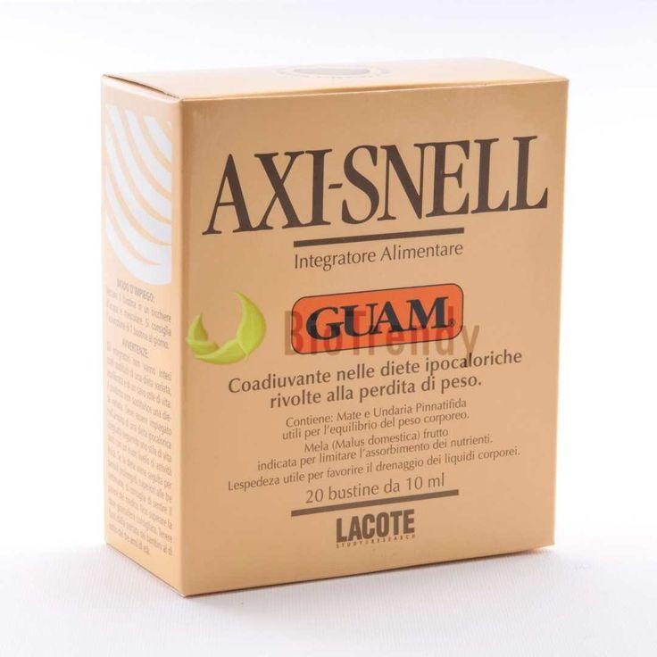 Guam Axi-Snell to suplement diety, który działa w o substancje zawarte w zielonej herbacie (pobudza metabolizm i dodaje energii), ekstrakcie jabłkowym (ogranicza wchłanianie tłuszczów oraz wspiera procesy trawienia), wyciągu Undaria Pinnatifida (stabilizuje wagę), Yerba Mate (działa antyoksydacyjnie i zmniejsza poziom cholesterolu LDL) oraz Lespedeza (działanie drenujące), czy kofeinie (działanie pobudzające). Link: http://www.biotrendy.pl/produkt/guam-axi-snell-saszetki-na-odchudzanie/
