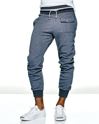 GQ.com: If JFK were alive, his sweats would have a preppy cargo pocket.$495, Michael Bastian. Sneakers by Converse.