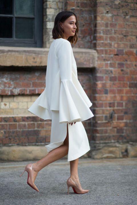 #ranitasobanska #fashion #inspirations Eleanor Pendleton, total white look, australian fashion week