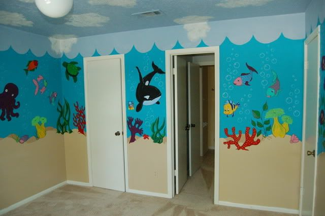 Under The Sea Mural #kidsroom  #mural