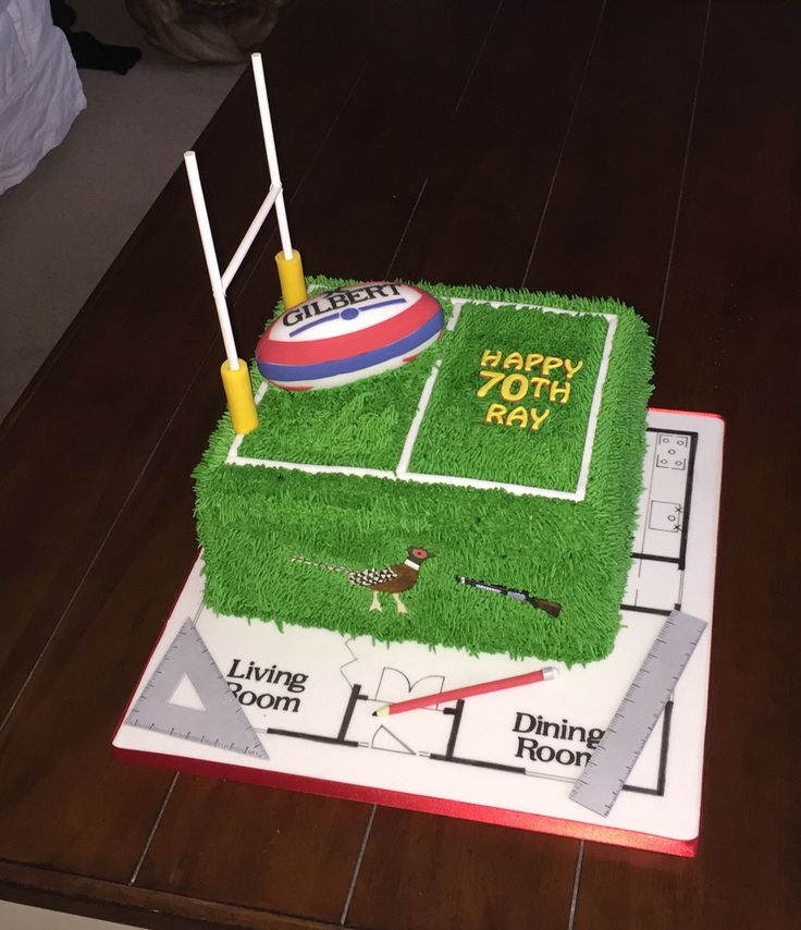Architect/rugby cake