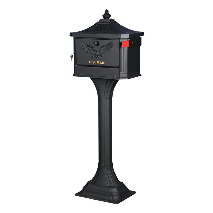 Pedestal Locking Mailbox With Post Included Gibraltar Mailboxes