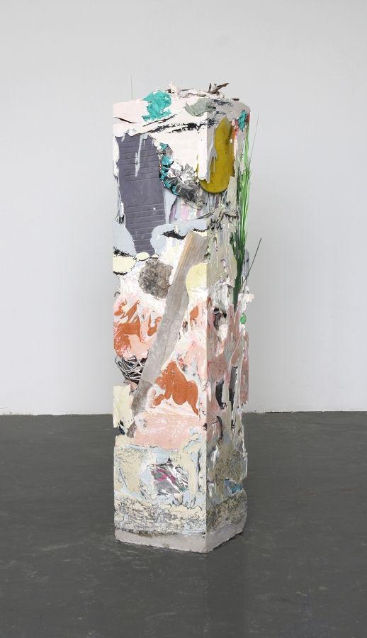 "Jack Henry  Untitled (Core Sample #12), 2012.  48""x12""x12"". Cast resin, cement and found objects.IMG_4741_1.jpg (518×900)  http://www.jackhenryartist.com/jack_henry/Home.html"
