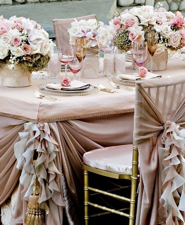 Neutral Mink Latte wedding theme