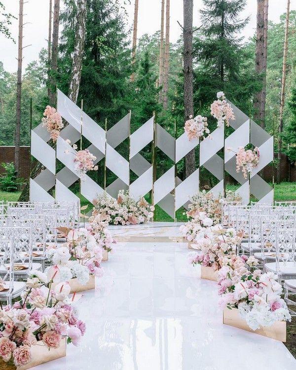 20 moderne Hochzeitsbögen und Kulissen aus Karame…