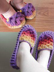 Crochet Patterns - Crocodile Stitch Loafers