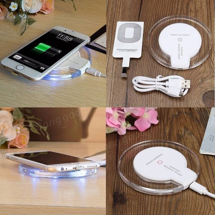 Wireless Battery Charger Pad & Receiver Charging Dock For Apple iPhone 5 5s 5c 6 6s Sale - Banggood.com