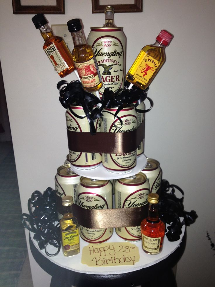 Beer can birthday cake ) Happy 23rd birthday, 23rd