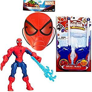 Amazon.com: Spiderman Walkie Talkies Marvel Superhero Mashers Action Figure and Spiderman Mask: Toys & Games