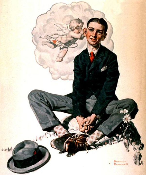 NORMAN ROCKWELL - Cupid's Message