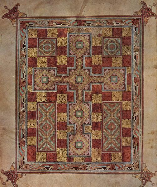 "Lindisfarne Gospels, ""Carpet Page"", about 700 AD"