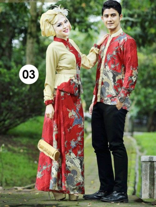 Model baju muslim couple batik
