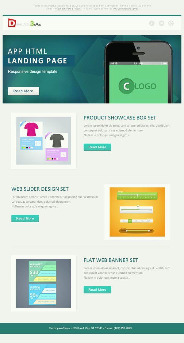 Best Newsletter Images On   Design Websites Site