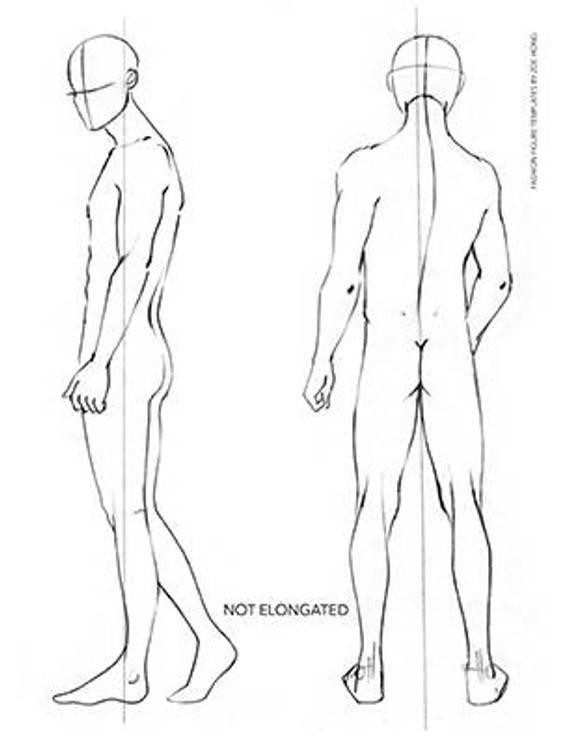 Male Fashion Figure Templates Fashion Figure Templates Figure Drawing Reference Guy Drawing