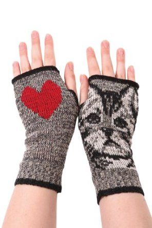 Green 3 Recycled Kitty Handwarmers