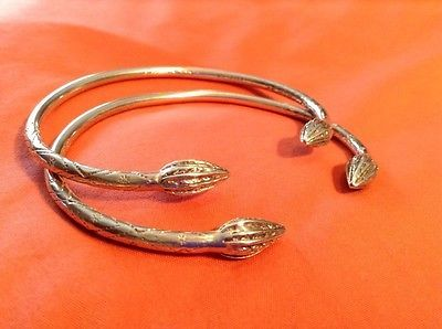 Jamaican West Indian Bangles Vtg Sterling Silver West Indian Indies Caribbean Bangle