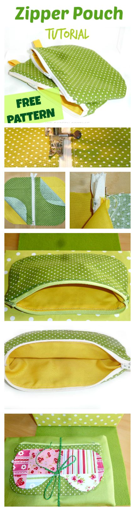 Never need to buy a zipper pouch again! Easy + quick to make + a great holiday gift! I'll make tons of these!