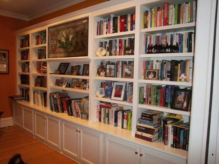 Custom bookshelves idea bookshelves pinterest ikea for Ways to decorate a bookshelf