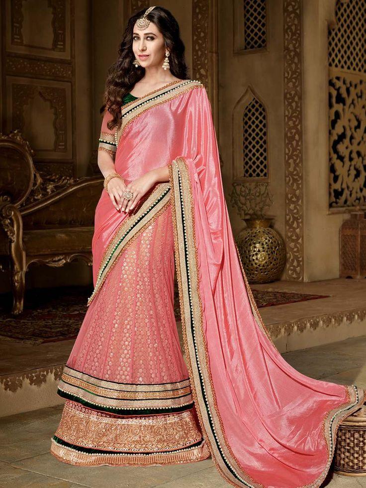 Karisma Kapoor In Lehenga Saree Item code: SDH10122 http://www.bharatplaza.com/new-arrivals/sarees.html