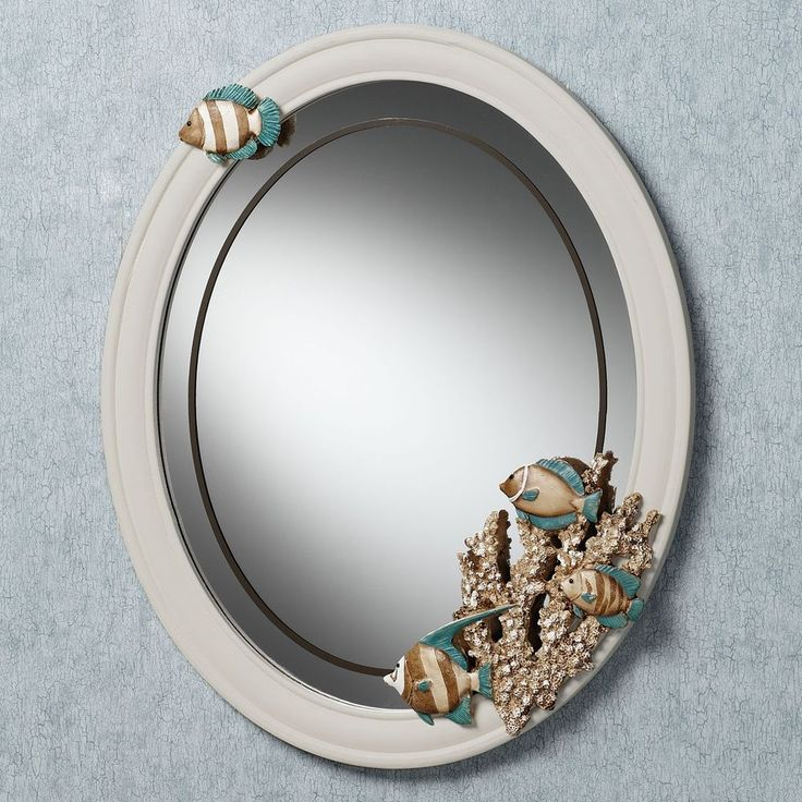 silver oval mirrors bathroom mirror wall oval bathroom vintage vanity decor style wood 20364