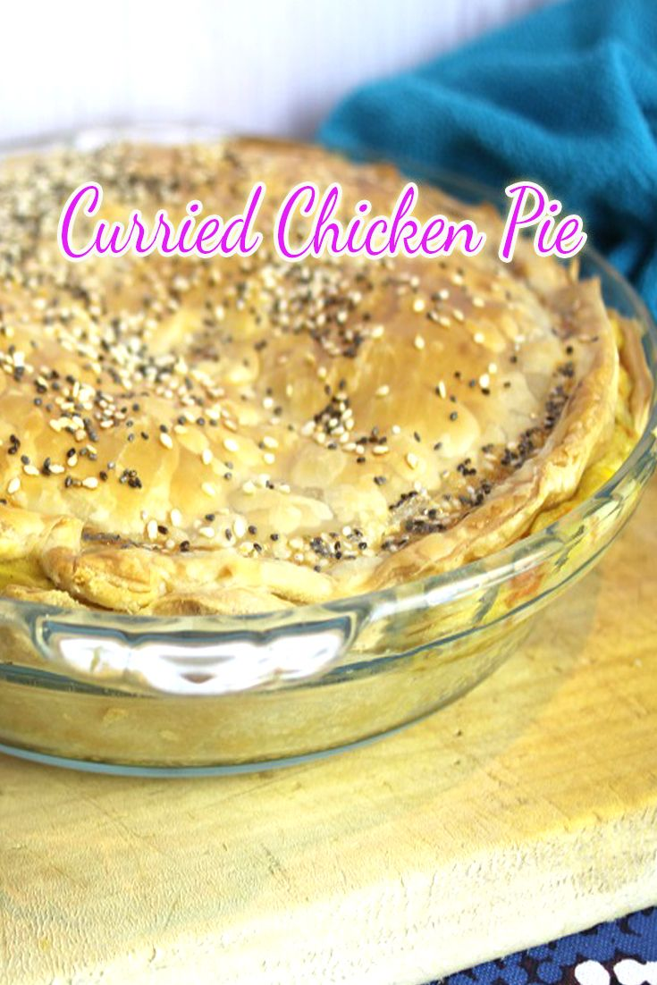 OMG, we looooove curried chicken pie!!  Again, this is a versatile recipe and you can add what ever vegetables you like.