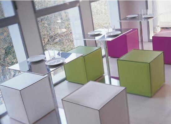 modern furniture for bistro and cafe design with boxes chair – The Kubo Pouff chairs