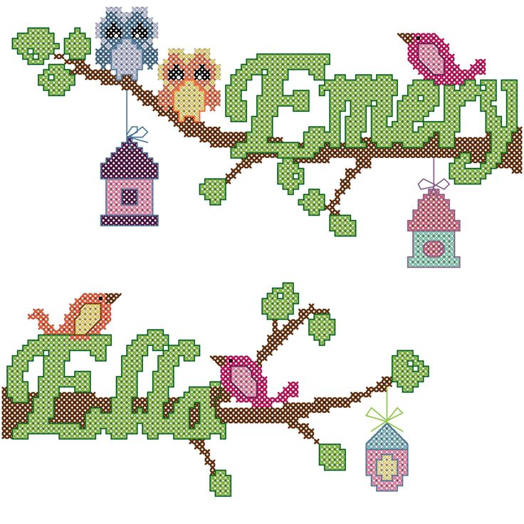 A personal favorite from my Etsy shop https://www.etsy.com/listing/119833056/modern-twins-cross-stitch-pattern-owls