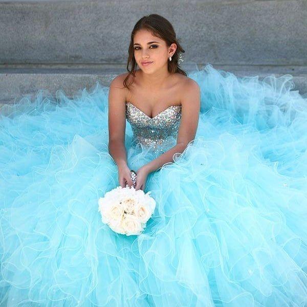 Azul Padrisimo Para Tu Vestido De 15 Años Les Gusta