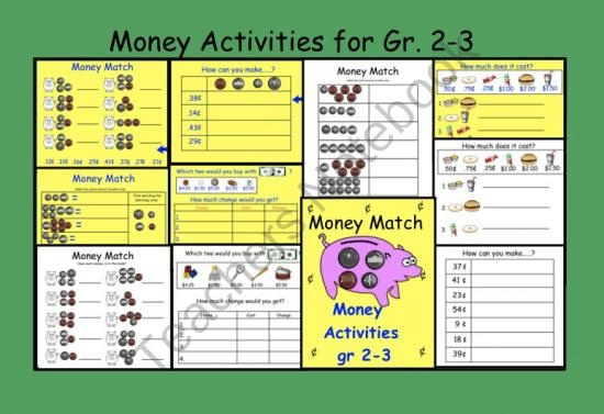 Interactive Smartboard Money Activities for Gr. 2-3 US coins  product from Teaching-The-Smart-Way on TeachersNotebook.com