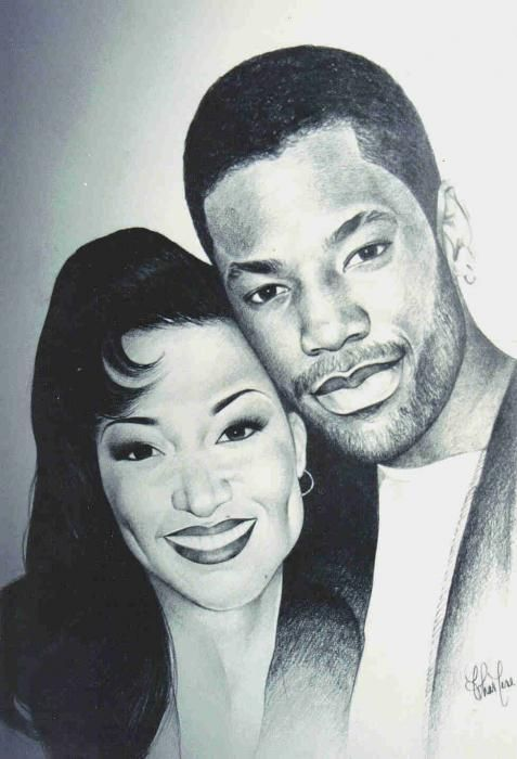 Kadeem Hardison and his ex-wife Chante Moore