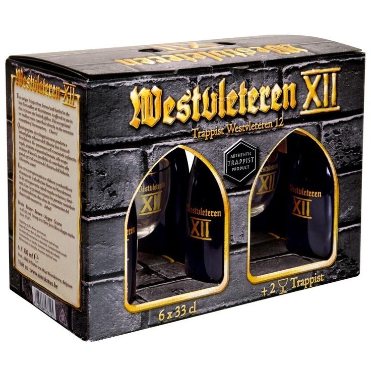 Le coffret Westvleteren 12° bière trappiste belge , 6 bouteilles et 2 verres dégustation est en vente sur la Boutique  Malts & Houblons. Bonne idée cadeau pour les fêtes !