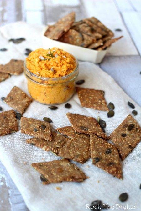 Tartinade crue aux carottes et ses crackers danois aux graines