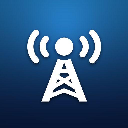 online radio stations logo icon design favorites app