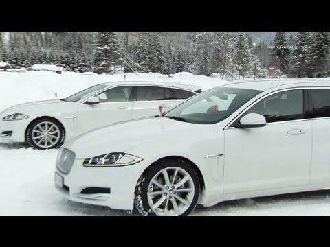 Jaguar XF SportBrake 2.2 Diesel - Test On Snow