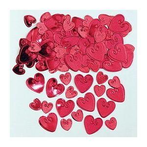 Glitter rode confetti hartjes, versier bijvoorbeeld uw vloer of bed met deze hartjes tijdens Valentijn! #valentijn #hart