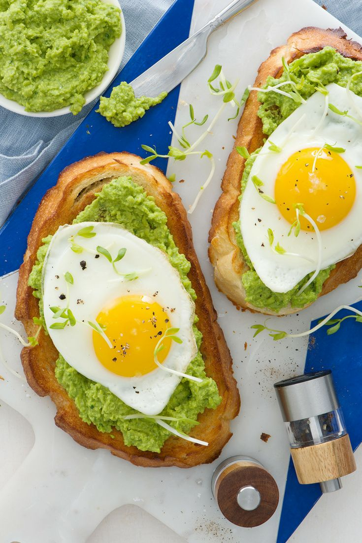 Winter is finally toast! We're springing into spring with Spring Pea and Egg Toast!  #spring