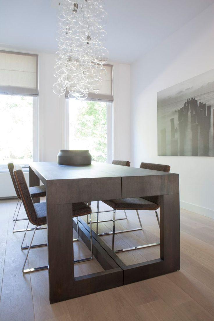 Meer dan 1000 ideeën over houten eettafels op pinterest   witte ...