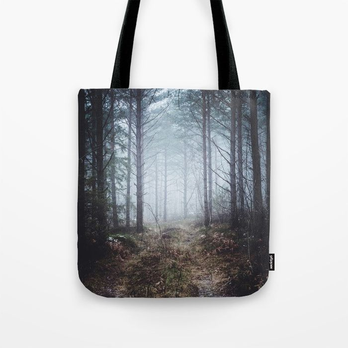 No more roads Tote Bag by HappyMelvin. #forests #nature #photo #totebag #bags
