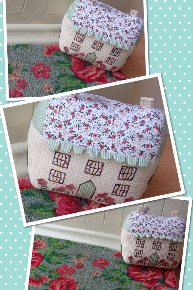 Cute cottage fabric doorstop crafty pinterest fabrics and - Cute door stoppers ...
