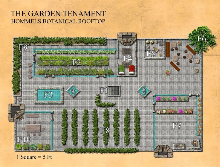 """Foto: Recall the Garden Tenement map, well this is the top floor of the same structure, called Hommel's Botanical Garden (hence why it's the """"Garden Tenement"""")."""