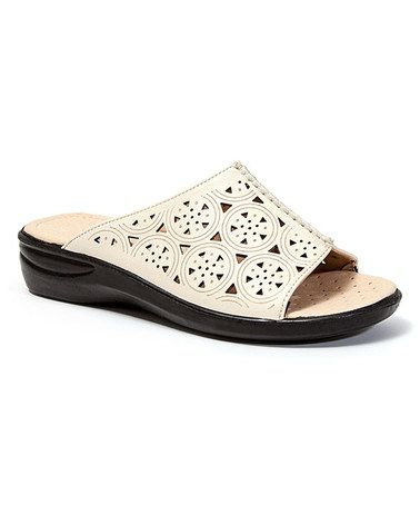Look at this #zulilyfind! Beige Cutout Soft Slide #zulilyfinds