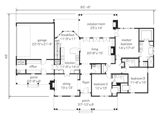 Southern Living House Plans/ Holly Mill   Needs Tweeking, But Good Layout.