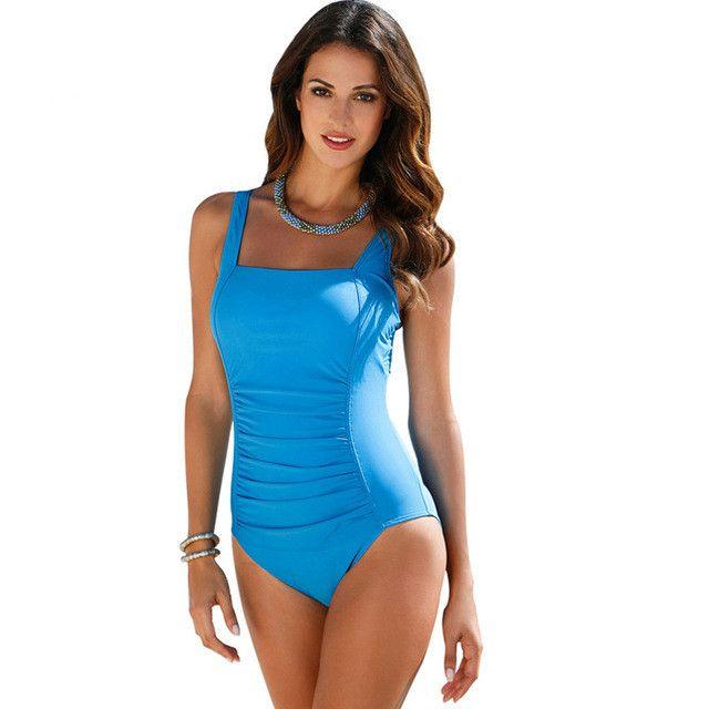 Plus Size Swimwear Women One Piece Swimsuits Retro Vintga Beachwear Polka Dot Printed One-Piece Suit Bathing Suits Swimming Suit
