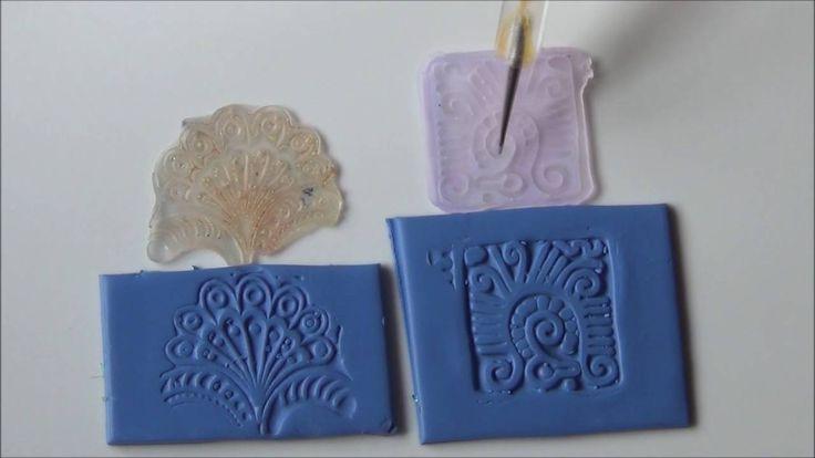 Astuce fimo polymere texture et tampons à motifs à faire soi même