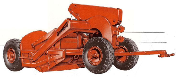 The C-114 was a well liked scraper that made it through the Allis-Chalmers takeover of LaPlant-Choate unchanged apart from the paint! C-114's were rated at 13½ cubic yards struck and 17 cubic yards heaped and normally pulled by a Caterpillar D8 or Allis-Chalmers HD-15.