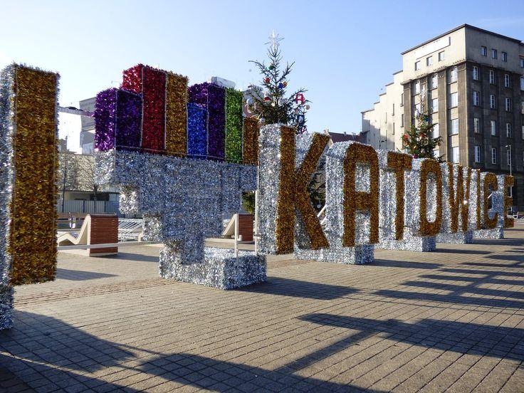 Katowice, Symbol, Rynek, Miłość, Serduszko, Napis