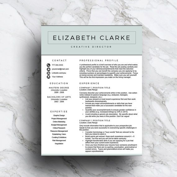 Professional and stylish resume template! For only $15.00 and less than an hour of your time, give your generic resume a makeover!  www.thewritestuffresumes.etsy.com