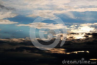 Heavy Clouds At Sunset - Download From Over 44 Million High Quality Stock Photos, Images, Vectors. Sign up for FREE today. Image: 72520642